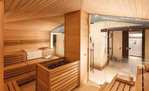 Die Sauna lädt zum Entspannen ein