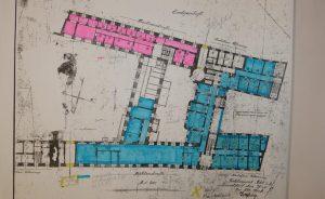 Plan des Stadthauses um 1910
