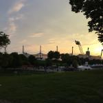 Blick vom Theatron aufs Olympiastadion