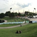Blick vom Theatron aufs Festivalgelände