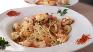 Schrimpsspaghetti