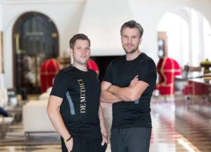 Tobias Gaßmann (Personal Trainer + Fitnessmanager De Medici Movement & Spa Club) und Christoph Urbanowicz (Inhaber und Leiter De Medici Movement & Spa Club)_klein