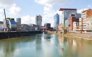 Der Medienhafen Düsseldorf ist einer der aufstrebendsten Stadtteile