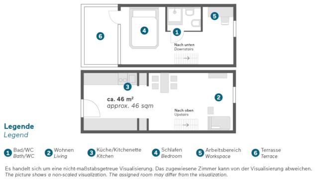Living Hotel am Deutschen Museum Superior Maisonette Apartment Grundriss