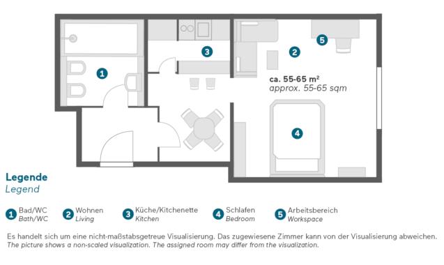 Living Hotel an der Oper Wien Executive Apartment Grundriss
