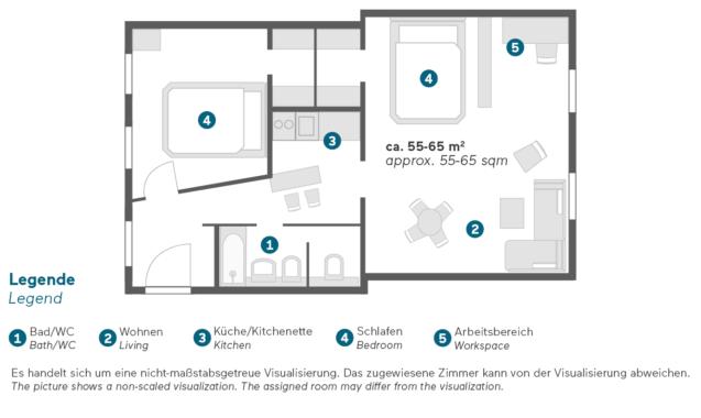 Living Hotel an der Oper Wien Familienapartment Grundriss
