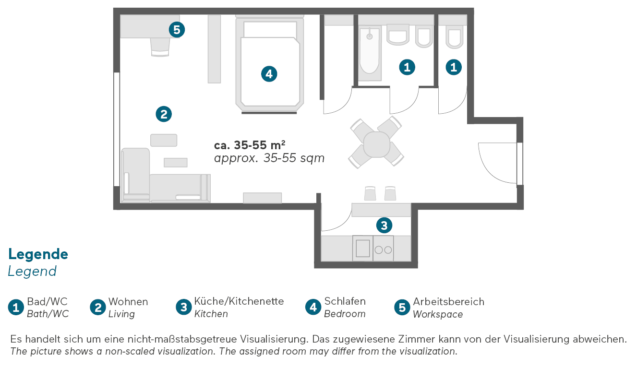 Living Hotel an der Oper Wien Superior Apartment Grundriss