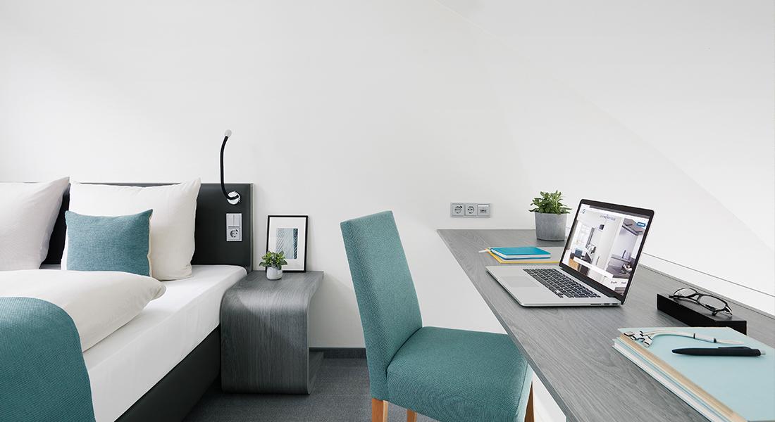 Living Hotel Appartement Johann Wolfgang Arbeitsbereich