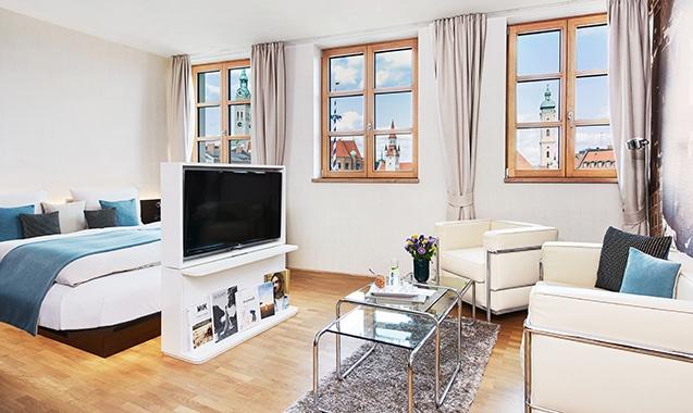 Living Hotel Das Viktualienmarkt München Superior Schlafbereich