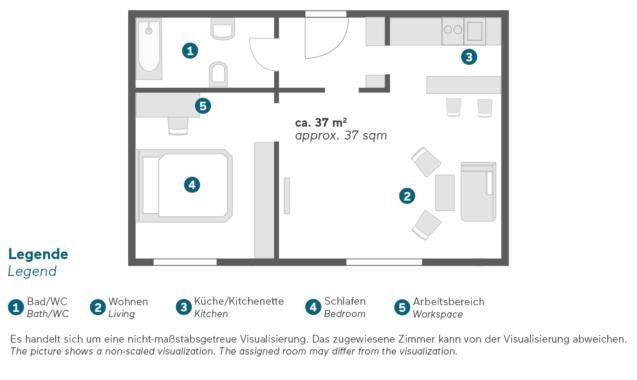 Living Hotel De Medici Düsseldorf Executive Grundriss