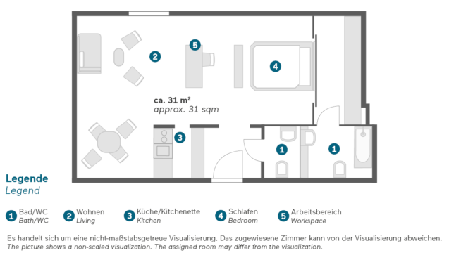 Living Hotel De Medici Düsseldorf Superior Grundriss