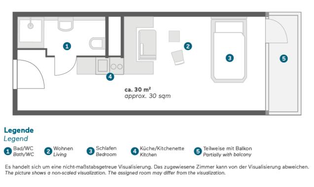 Living Hotel Frankfurt Deluxe Grundriss
