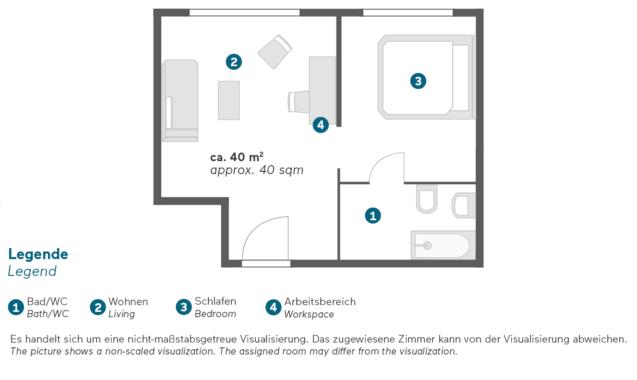 Living Hotel Großer Kurfürst Berlin Superior Doppelzimmer Grundriss