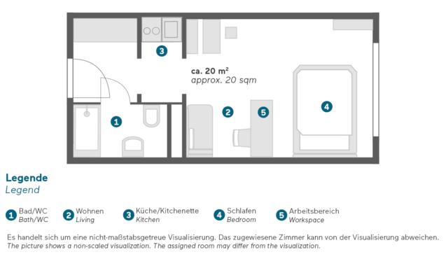 Living Hotel Kaiser Franz Joseph Doppel Business Grundriss