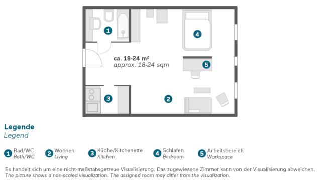 Living Hotel Kanzler Bonn Business Zimmer Grundriss