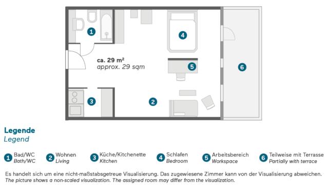 Living Hotel Kanzler Bonn Business Plus Zimmer Grundriss