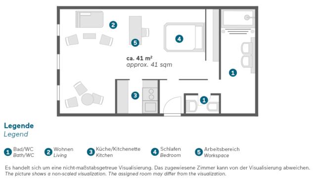 Living Hotel Kanzler Bonn Superior Zimmer Grundriss