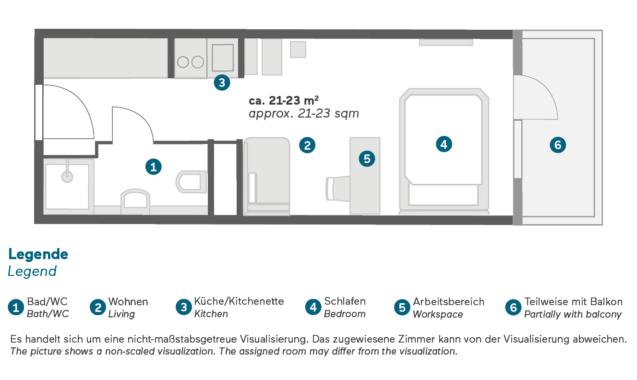 Living Hotel Nürnberg Economy Grundriss