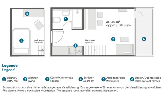 Living Hotel Nürnberg Maisonette Plus Grundriss