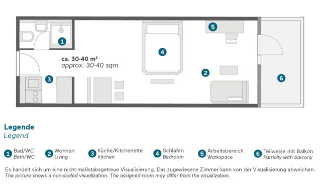 Living Hotel Nürnberg Superior Plus Grundriss