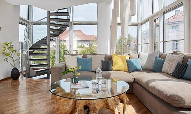 Living Hotel Prinzessin Elisabeth München Penthouse Suite Wohnbereich