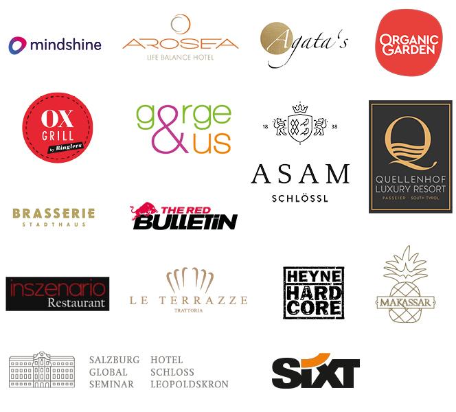 Living Hotels Gewinnspiel Logos Partner