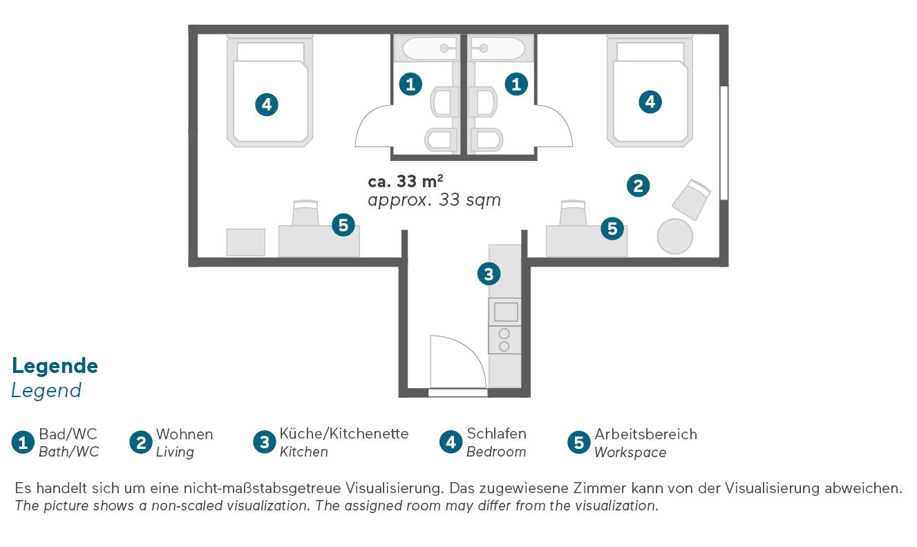 Living Hotel Berlin Mitte Familienapartment Grundriss