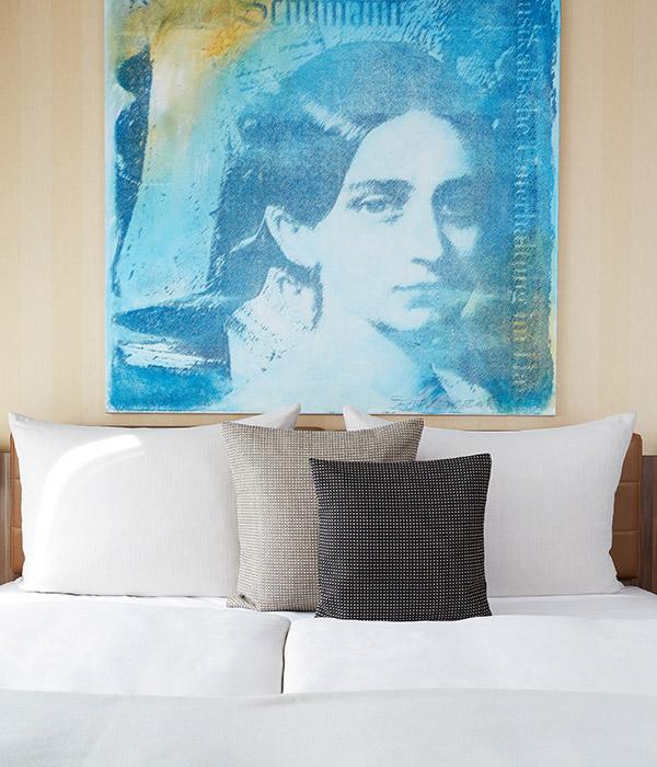 Living Hotel Dusseldorf Deluxe Bett Serviced Apartments