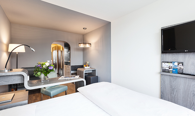 Living-Hotel-Apartments-Johann-Wolfgang-Frankfurt-Economy-Bett