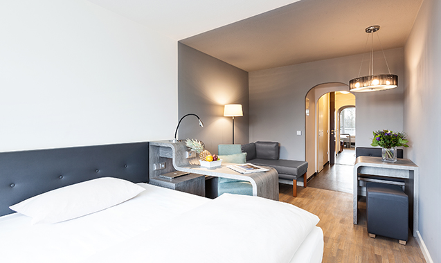 Living-Hotel-Apartments-Johann-Wolfgang-Frankfurt-Economy-Schlafzimmer