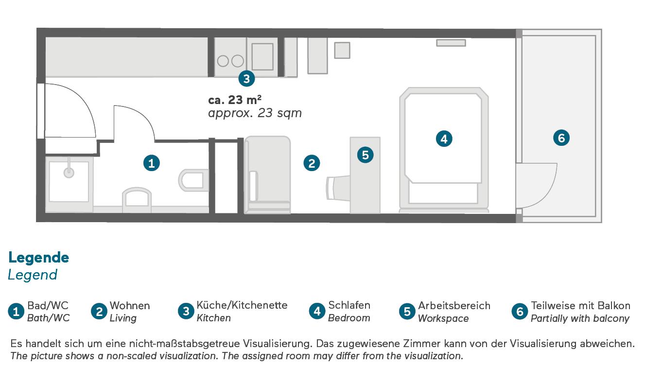 Living Hotel Appartements Johann Wolfgang Frankfurt Business French