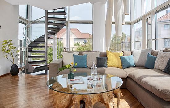 Living Hotel Prinzessin Elisabeth München Penthouse Suite Wohnzimmer