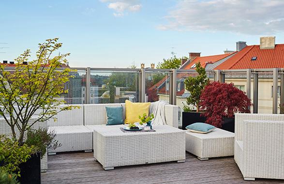 Living Hotel Prinzessin Elisabeth München Penthouse Suite Dachterasse