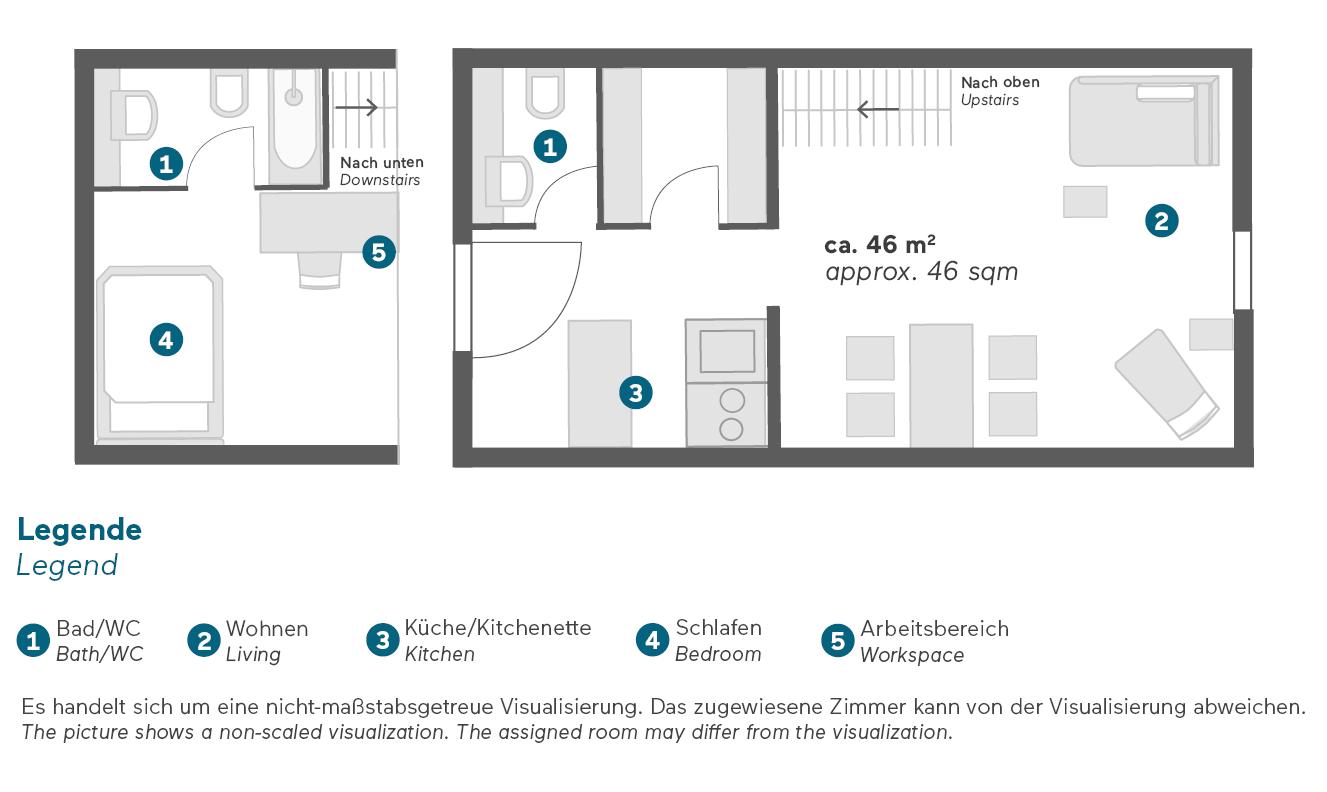 living-hotel-prinzessin-elisabeth-münchen-superior-maisonette-grundriss