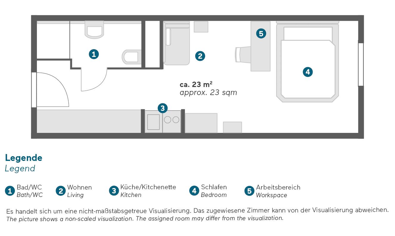 living-hotel-am-deutschen-museum-münchen-economy-queen-apartment-grundriss
