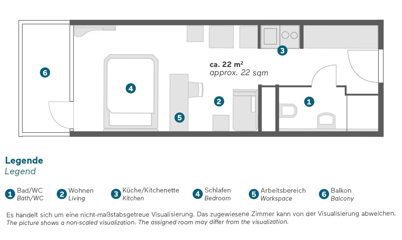 living-hotel-am-olympiapark-münchen-doppel-business-grundriss