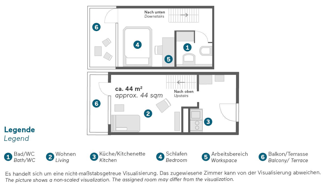 living-hotel-am-olympiapark-münchen-maisonette-business-grundriss