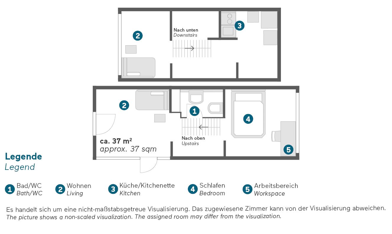 living-hotel-am-olympiapark-münchen-maisonette-superior-grundriss