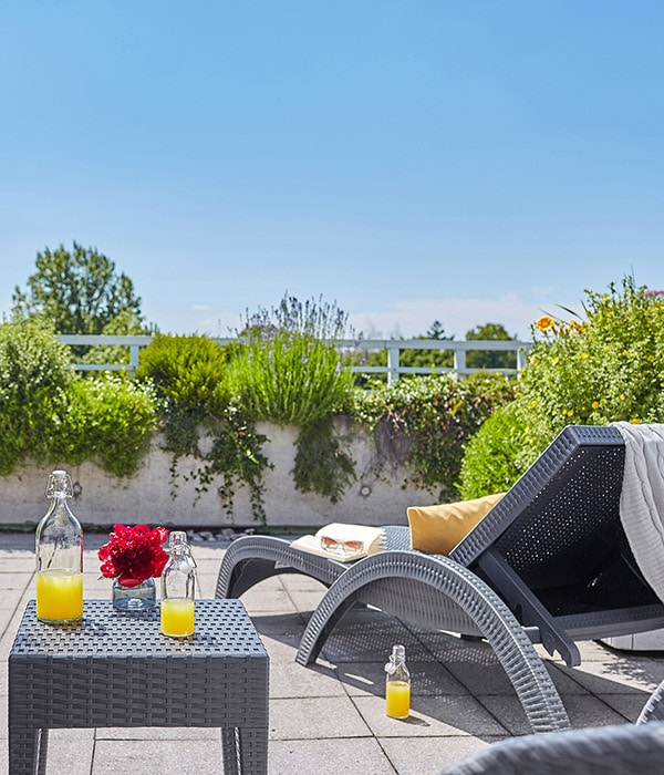 Living Hotel am Olympiapark München Apartment Terrasse