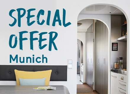 Your apartment with kitchen in Munich