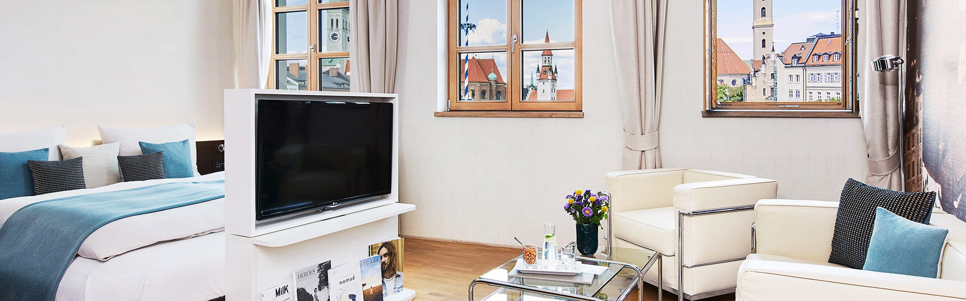 Living Hotel Das Viktualienmarkt München Zimmer