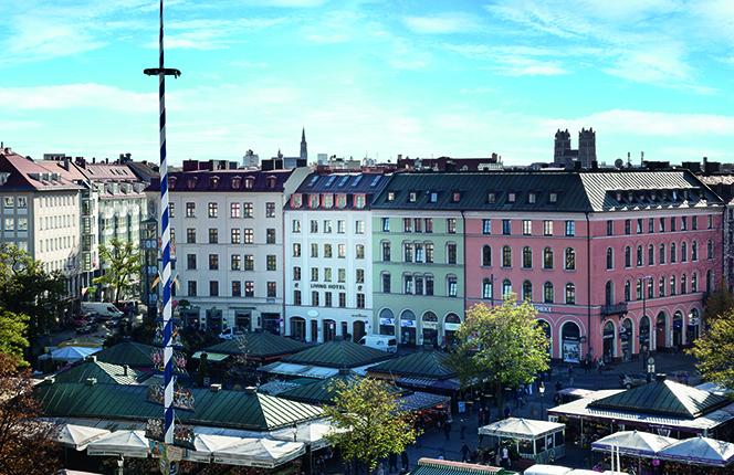 Living-Hotel-Das-Viktualienmarkt-Munchen-Fassade Serviced Apartments