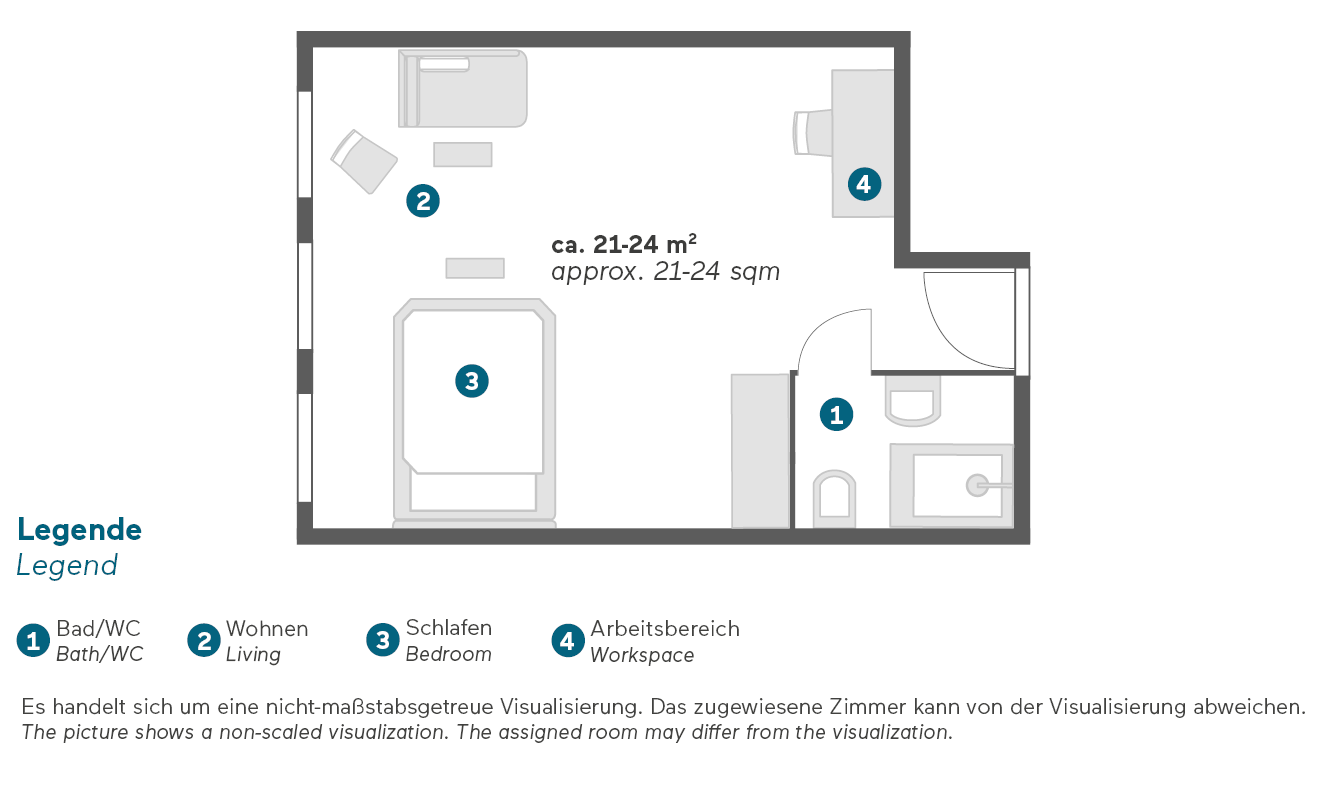 Living Hotel Das Viktualienmarkt München Superior Zimmer Grundriss