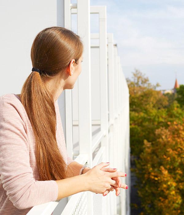 Living Hotel Nürnberg Serviced Apartment Balkon