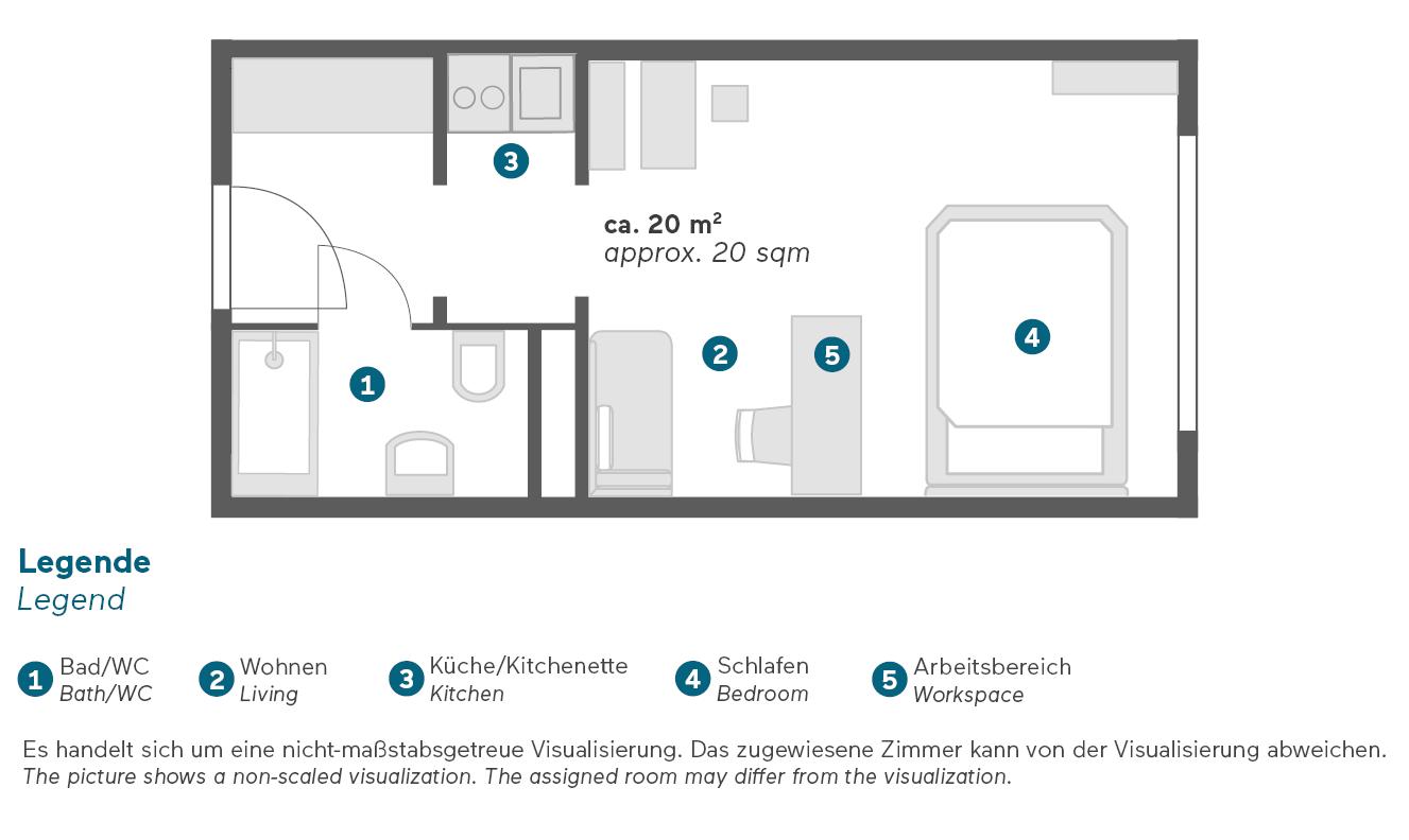 Living Hotel Kaiser Franz Joseph Wien Apartment Business Grundriss