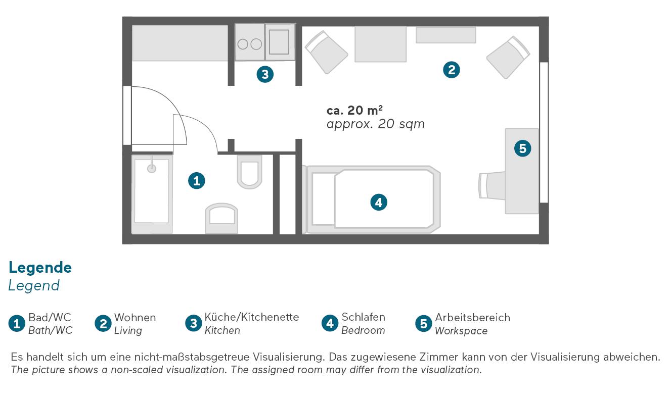 Living Hotel Kaiser Franz Joseph Wien Economy Zimmer Grundriss