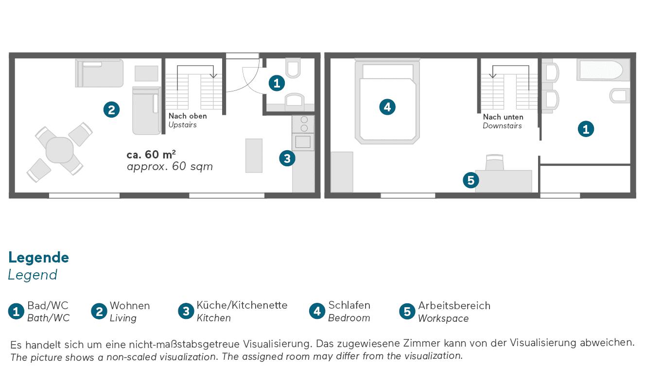living-hotel-de-medici-duesseldorf-maisonette-suite-grundriss