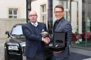 v.l.n.r. Hoteldirektor_BertoldReul ( Derag Livinghotel De Medici ) und Michael Gleissner ( Rolls-Royce Motorcars Cologne )
